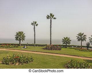 Beautiful Park at the Coast in Lima Peru