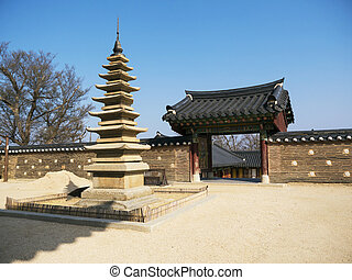 Beautiful park in Naksansa temple, South Korea
