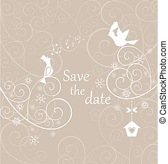 Beautiful pastel wedding card