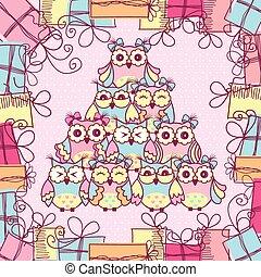 Beautiful pattern postcard