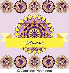 beautiful pattern, unusual mandala, layout