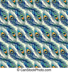 Beautiful pattern with peacock feathers.
