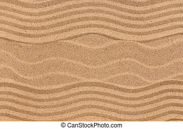 Beautiful patterns on the beach sand.