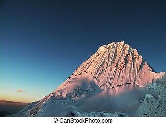 Alpamayo - Beautiful peak Alpamayo in the Cordilleras