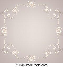 Beautiful pearl frame