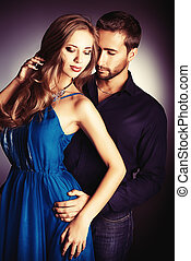 beautiful people - Portrait of a beautiful young couple in...