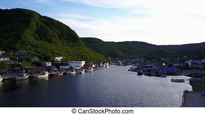 Beautiful Petty Harbour during summer, Newfoundland, Canada