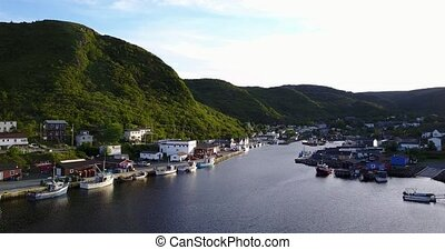 Beautiful Petty Harbour with during summer, Newfoundland and...