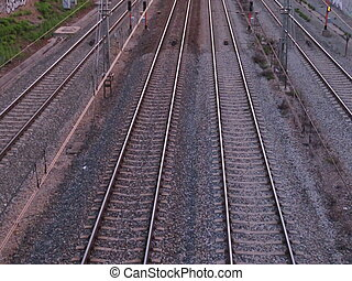 Beautiful photo of the path of high-speed train