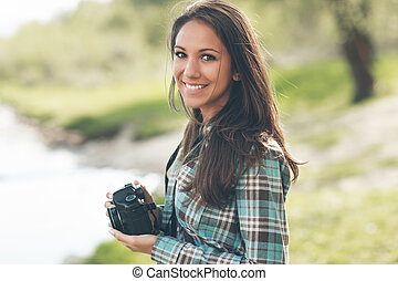 Beautiful photographer portrait