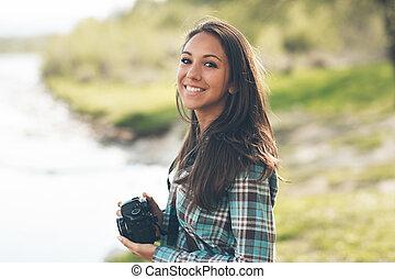 Beautiful photographer portrait