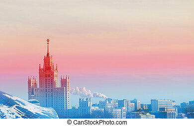 buildings in the city of Moscow