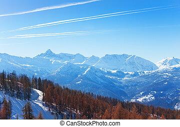 Beautiful picture of winter mountain scene