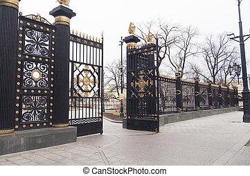 Beautiful pig-iron gate
