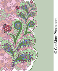 pink and green background
