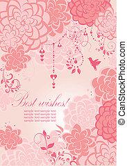 Beautiful pink banner