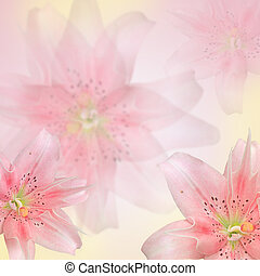 beautiful pink flowers made with color filters