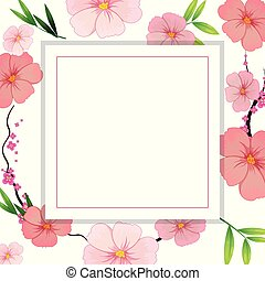 Beautiful Pink Hibiscus Flower Template