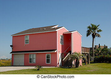 Beautiful pink house in the southern United States