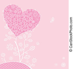 Beautiful pink lacy card