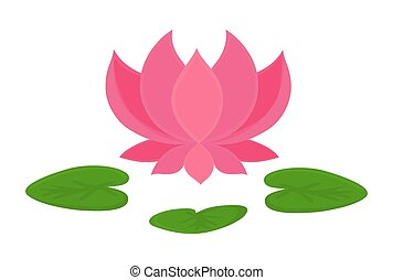 Flower shape lotus 3d flower shape lotus vector illustration for beautiful pink lotus flower blooming vector shape design mightylinksfo