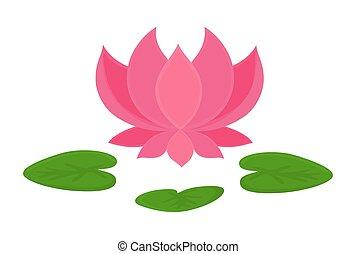 Flower shape lotus 3d flower shape lotus vector illustration for beautiful pink lotus flower blooming vector shape design mightylinksfo