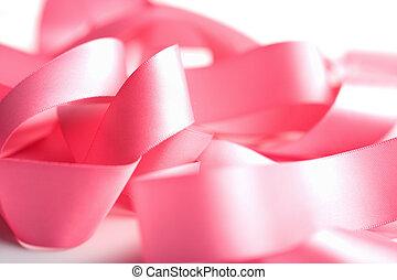 beautiful pink ribbon isolated