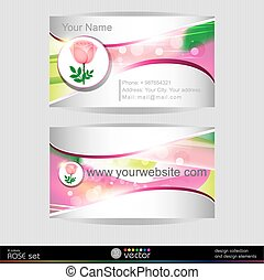 Beautiful pink rose business card t