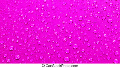 Beautiful pink water drops background