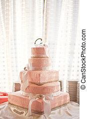 Beautiful Pink Wedding Cake