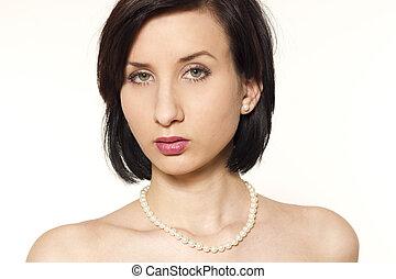 Beautiful pinup woman portrait