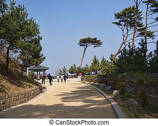 Beautiful place in Naksansa temple, South Korea