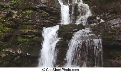 Beautiful place Shipot waterfall in the Carpathians, Ukraine