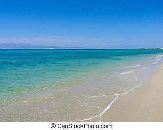 Plaka beach - Beautiful Plaka beach in Naxos Island,...
