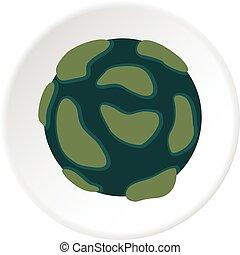 Beautiful planet icon circle