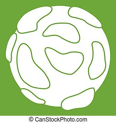 Beautiful planet icon green