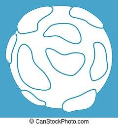 Beautiful planet icon white