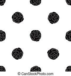 Beautiful planet pattern seamless black