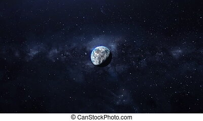 Beautiful planets earth, milky way. - Earth planet rotation,...