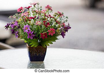 beautiful plastic flowers