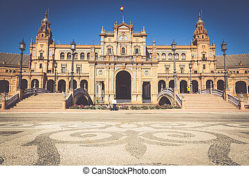 Beautiful Plaza de Espana, Sevilla, Spain