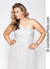beautiful plus size woman