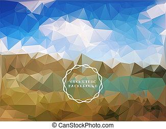Beautiful polygon landscape