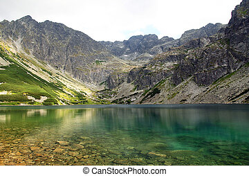 beautiful pond in Tatra Mountains, Poland