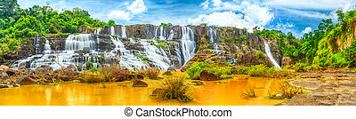 Pongour waterfall - Beautiful Pongour waterfall in Vietnam. ...