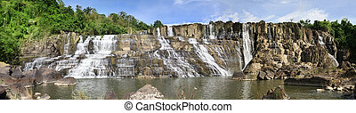 Beautiful Pongour waterfall in Vietnam