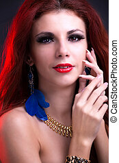 Beautiful Portrait Fashion Girl