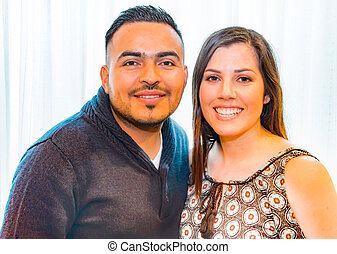 Portrait of Happy Hispanic Couple