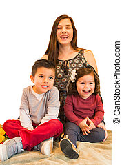 Portrait of Happy Hispanic Family