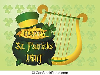 Beautiful postcard to the day of St. Patrick. Vector illustration.